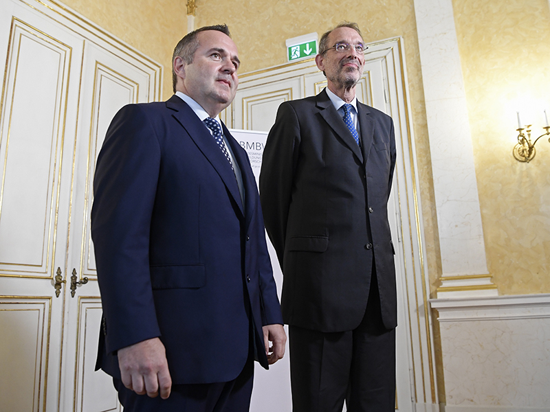 Pflichtschullehrer-Gewerkschafter Paul Kimberger (l.) und Bildungsminister Heinz Faßmann