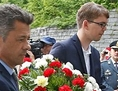 Peter Kaiser Ljubelj spominska Manuel Jug venec polaganje venca
