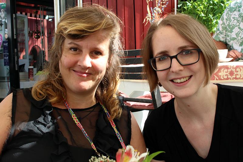 Maria Reiner und Alia  Bandhauer von Stadtteilprojekt Annenviertel