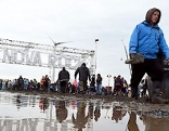 Besucher am Nova Rock Festival