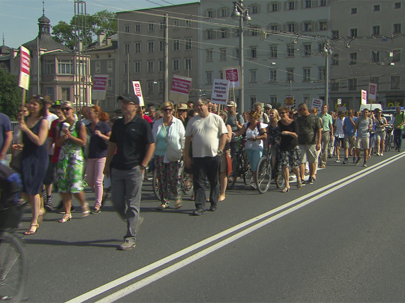 """Protestdemo für """"faire Pflegefinanzierung"""""""