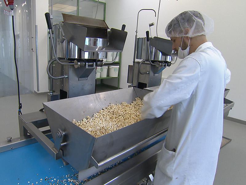 Popcorn-Produktion im Wiener Hafen