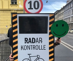 "Aktion ""RADar"" Radarkästen Radfahrer Raser"