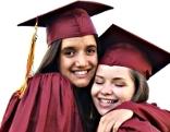 Austauschschüler bei Abschluss
