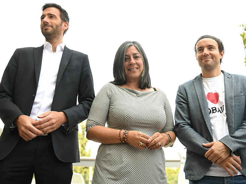 TU-Verkehrswissenschafter Harald Frey, Vizebürgermeisterin Maria Vassilakou und Landessprecher Joachim Kovacs