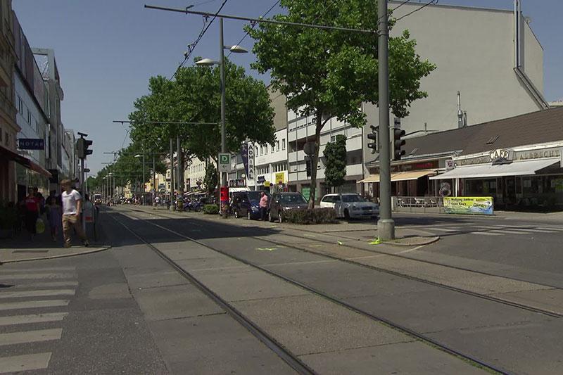 Unfallstelle Juli 2017 in der Simmeringer Hauptstraße