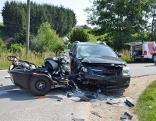 Tödlicher Motorradunfall im Innviertel