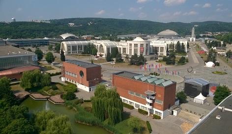 areál brněnského výstaviště, kde se v současnosti pořádá festival Re:publika