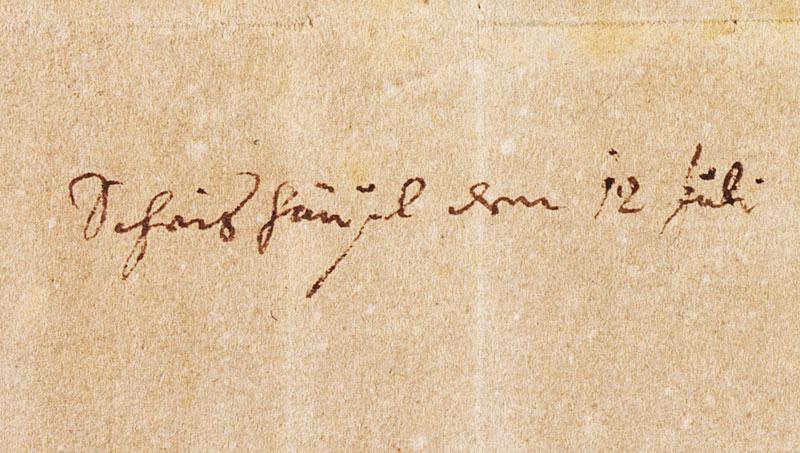 Mozart Scheishäuselbrief angekauft Stiftung Mozarteum