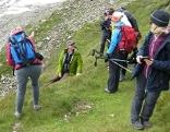 Wandergruppe mit Führer auf dem Langwiedboden beim Kitzsteinhorn