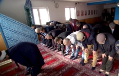 Betende in Moschee