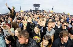 Fans auf dem Nova Rock Festival