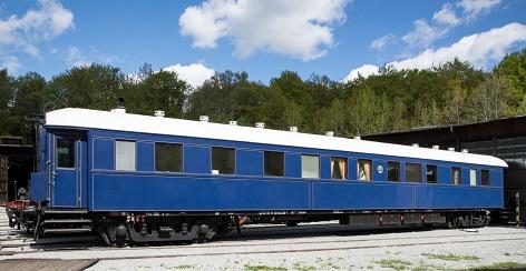 modrý vagon prezidentského speciálu