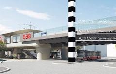 Visualisierung zur geplanten Verbindungsbahn Hietzing