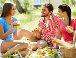 Picknick mit Freunden