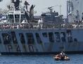 """Das Rettungsschiff """"Aquarius"""" erreicht am 17. Juni 2018 die spanische Hafenstadt Valencia."""