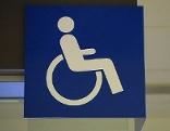 Rollstuhl Symbol für Behinderte (Barrierefreiheit)
