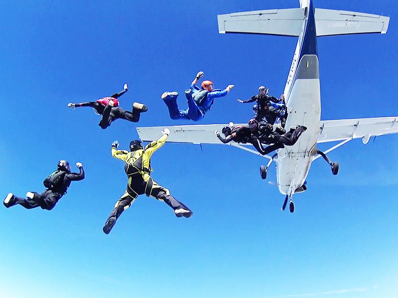 Weltbeste Fallschirmspringer