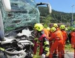 Busunfall bei Bad Goisern