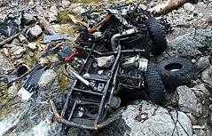 Unimog abgestürzt - Fahrer tot