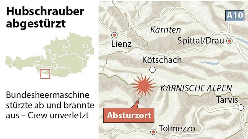Bundesheerabsturz Karte