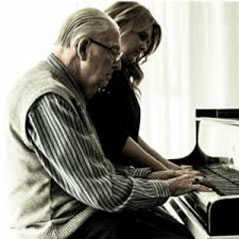 Artur Rogger mit Enkelin Katharina Alber
