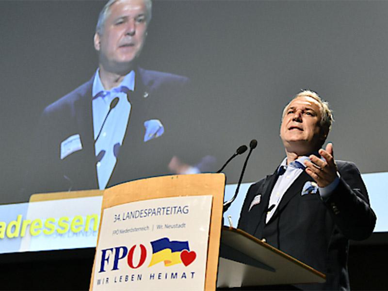 FPÖ Landesparteitag Wiener Neustadt Walter Rosenkranz