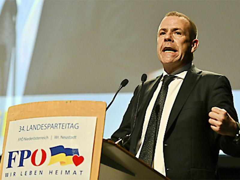 FPÖ Landesparteitag Wiener Neustadt Harald Vilimsky