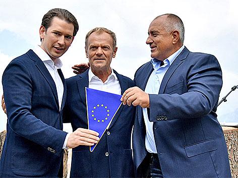 Kurz, Tusk und Borissow auf der Planai