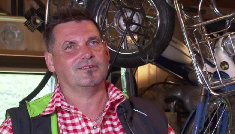 Puch-Moped Sammler Roland Hillbrand