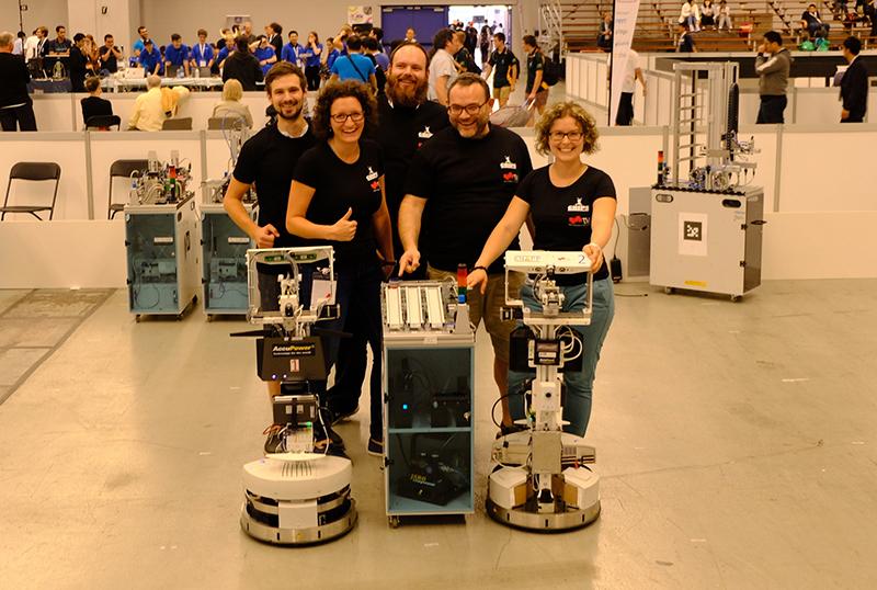 Das GRIPS-Team: Jakob Ludwiger, Vanessa Egger, Thomas Ulz, Gerald Steinbauer und Sarah Haas