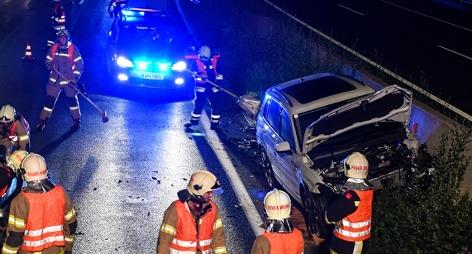 Unfall bei Völs auf A12