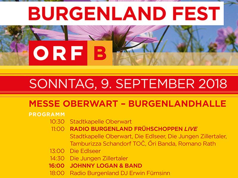 ORF Burgenland Fest 2018 in Oberwart Plakat