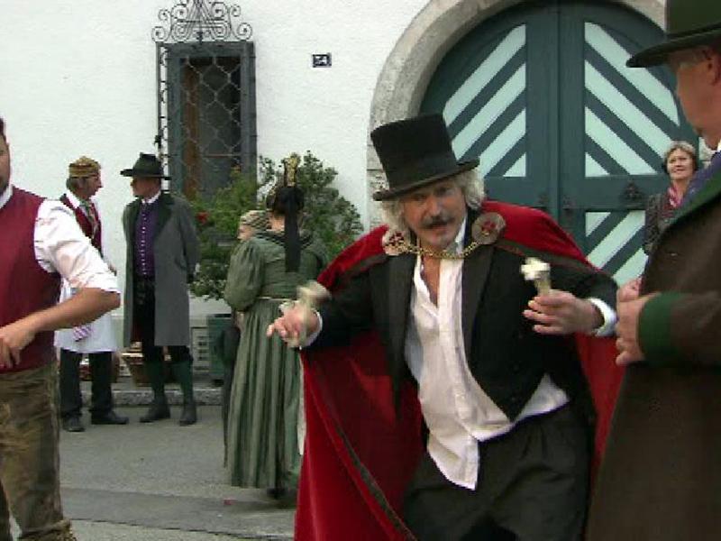"""Eine Gemeinde spielt """"Die Hochzeit"""" von Paula Grogger in der Oberstmk"""