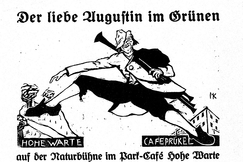 """Theaterzettel """"Der liebe Augustin"""""""