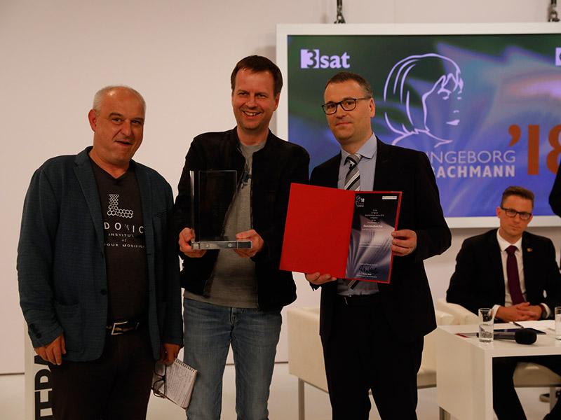 Preisverleihung 2018 Kastberger Bov Bjerg Deutschlandfunk
