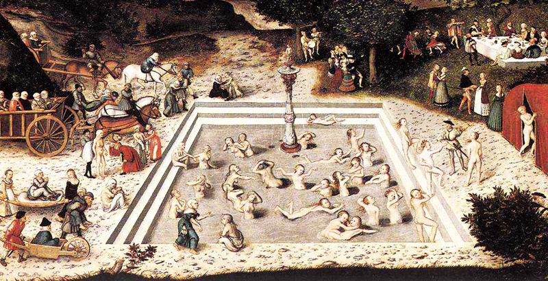 Gemälde Jungbrunnen von Lucas Cranach dem Älteren