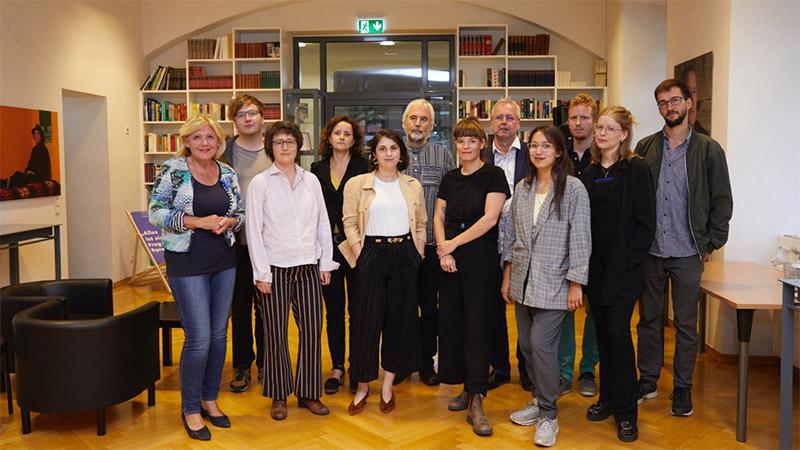 Literaturkurs 2018 Eröffnung Gruppenbild Mathiaschitz