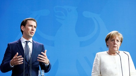 Sebastian Kurz und Angela Merkel