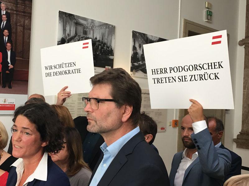 Podgorschek Rücktritt