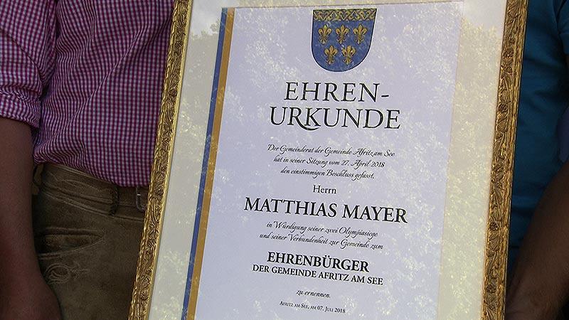 Matthias Mayer Ehrenbürger Afritz
