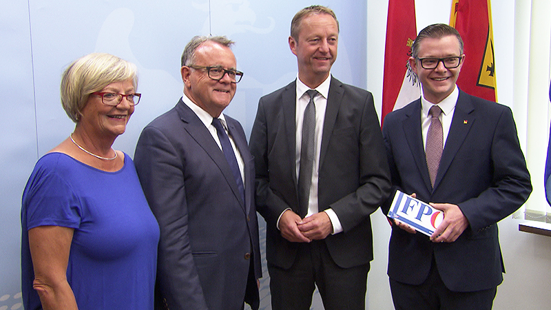 Ingrid Salamon, Hans Niessl, Johann Tschürtz und Geza Molnar