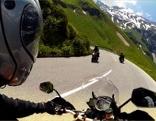 Motorradfahrer auf der Großglocknerstraße