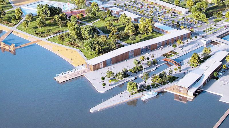 Fertörakos  Plan Yachthafen Seebad
