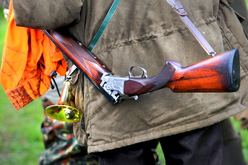Jäger bei Treibjagd