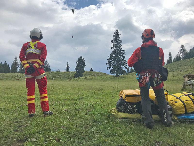 Hubschrauberrettung vom Watzmann