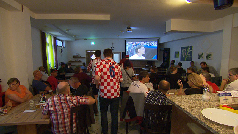 Kroatische Fans Baumgarten, Public Viewing