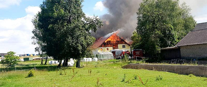 Großbrand in Patrick Schwab