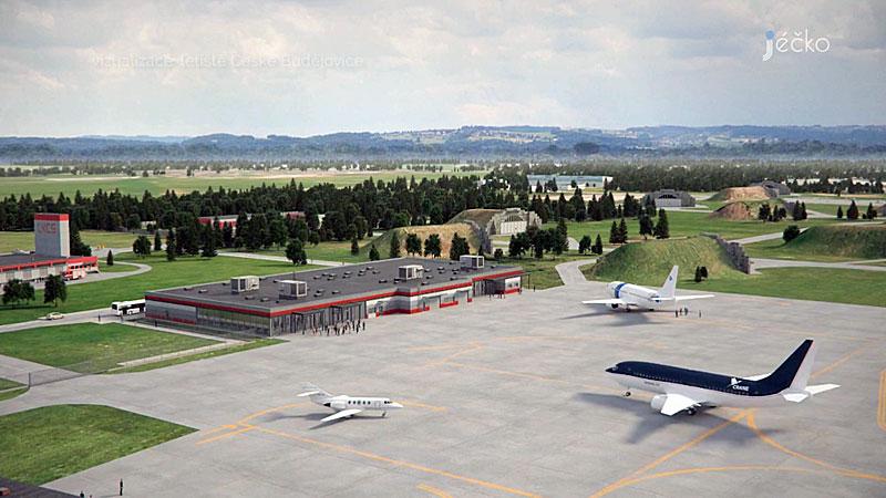 Plan für neuen Flughafen Budweis