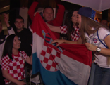 Kroatische Fans, Fußball WM Halbfinale, Public Viewing